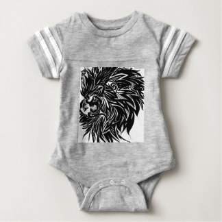 Body Para Bebê Gráfico impresso leão no preto