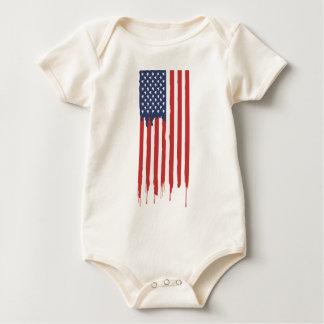 Body Para Bebê Grafites EUA da bandeira americana unidos
