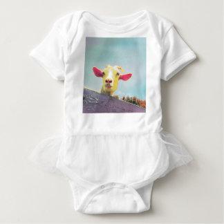 Body Para Bebê Grande de tudo cabra orelhuda cor-de-rosa do tempo