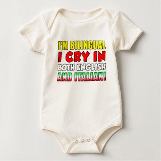 Body Para Bebê Grito bilíngüe no italiano