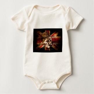 Body Para Bebê Grunge de Reino Unido Inglaterra Londres da