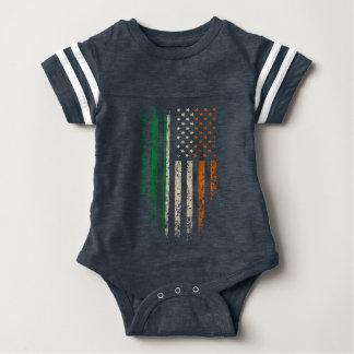 Body Para Bebê Grunge irlandês da bandeira americana