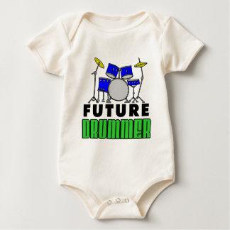 Body Para Bebê Grupo azul do cilindro do baterista futuro