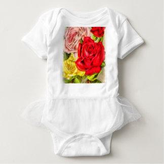Body Para Bebê Grupo da aguarela dos rosas