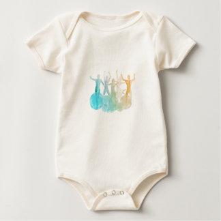 Body Para Bebê Grupo de amigos que saltam para a alegria na