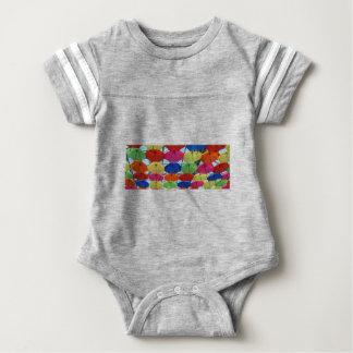 Body Para Bebê guarda-chuva colorido