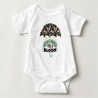 Body Para Bebê Guarda-chuva da flor da ideia