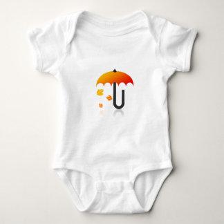 Body Para Bebê Guarda-chuva e folhas