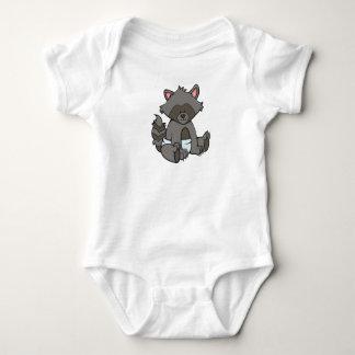 Body Para Bebê Guaxinim customizável do bebê