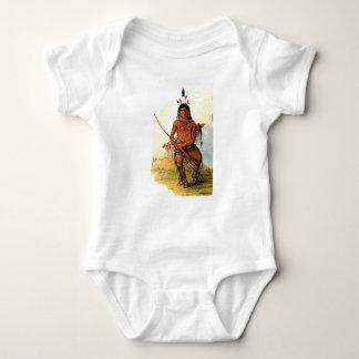 Body Para Bebê guerreiro armado do arco