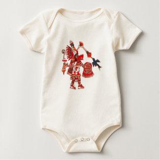 Body Para Bebê Guerreiro asteca do shaman da dança
