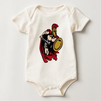Body Para Bebê Guerreiro romano ou Trojan espartano do grego