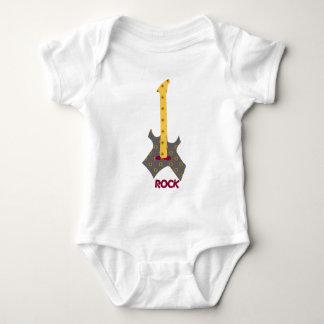 Body Para Bebê Guitarra da chita da rocha do bebê da rocha