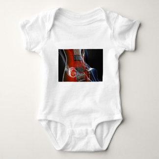 Body Para Bebê Guitarra da Sete-Corda das cordas da guitarra oito