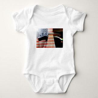 Body Para Bebê Guitarra elétrica da guitarra da bandeira dos EUA