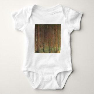 Body Para Bebê Gustavo Klimt - floresta do pinho