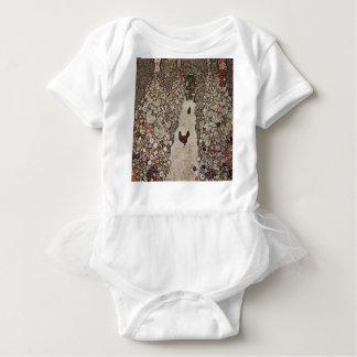 Body Para Bebê Gustavo Klimt - jardim com galos