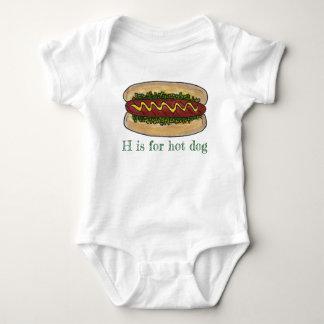 Body Para Bebê H é para a inicial da letra do bolo da apreciação