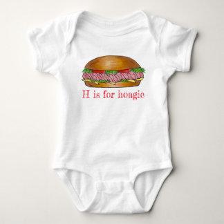 Body Para Bebê H é para o sanduíche Foodie do sub do queijo do
