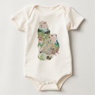 Body Para Bebê Habitat de Ridge da marmota