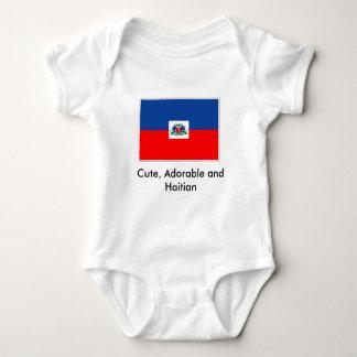 Body Para Bebê haiti-bandeira, bonito, adorável e haitiano