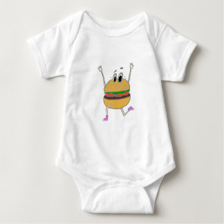 Body Para Bebê hamburguer running