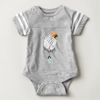 Body Para Bebê Hamburguer saboroso grande e Hands2