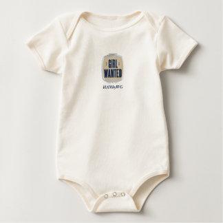 Body Para Bebê HAMbWG - pressão orgânica T do bebê - menina quis