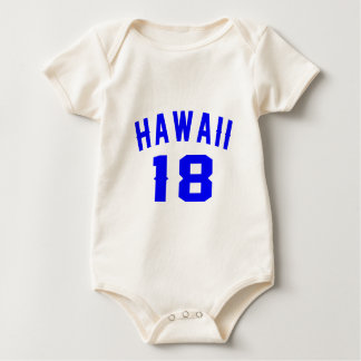Body Para Bebê Havaí 18 designs do aniversário