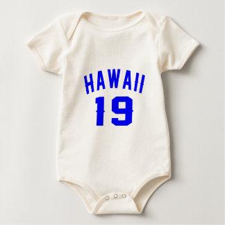 Body Para Bebê Havaí 19 designs do aniversário