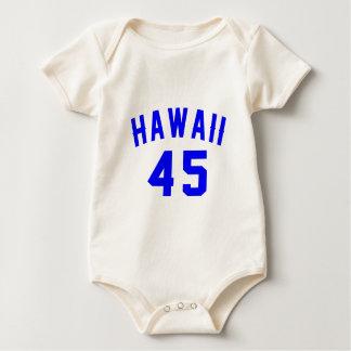 Body Para Bebê Havaí 45 designs do aniversário