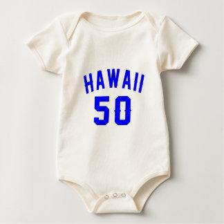 Body Para Bebê Havaí 50 designs do aniversário