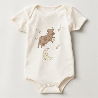 Body Para Bebê Hey diddle diddle, a vaca saltada sobre a lua