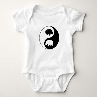 Body Para Bebê Hipopótamo de Ying yang