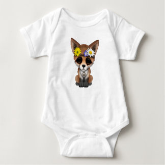 Body Para Bebê Hippie bonito do Fox do bebê