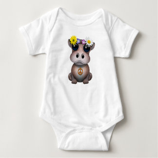 Body Para Bebê Hippie bonito do hipopótamo do bebê