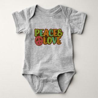 Body Para Bebê Hippie da paz & do amor