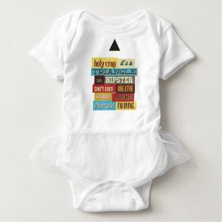 Body Para Bebê hipster e respiração do triângulo
