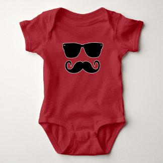 Body Para Bebê Hipster - vidros e 'Stache