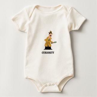 Body Para Bebê homem da curiosidade