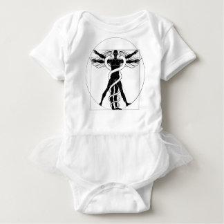 Body Para Bebê Homem de Vitruvian do Caduceus