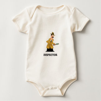 Body Para Bebê homem do inspector