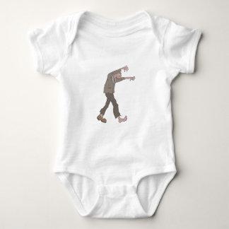 Body Para Bebê Homem em um zombi assustador do terno com carne