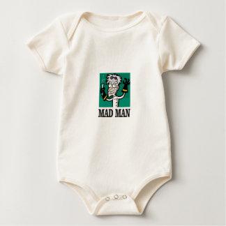 Body Para Bebê homem louco magro