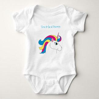 Body Para Bebê Hora de ser um Bodysuit. do unicórnio