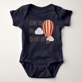 Body Para Bebê Hora para um balão de ar quente da aventura
