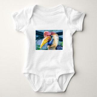Body Para Bebê Hornbill vermelho e amarelo