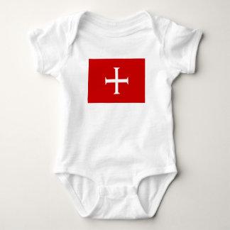Body Para Bebê hospitall teutonic templar de malta da cruz