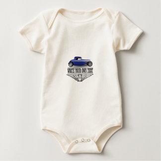 Body Para Bebê hot rod azul
