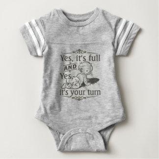 Body Para Bebê Humor em mudança da fralda